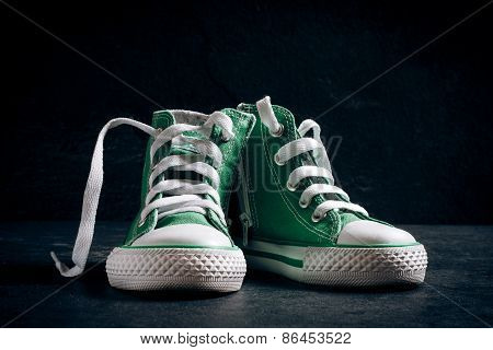 Small Green Sneakers