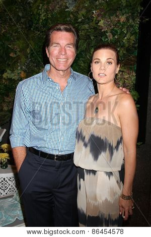 LOS ANGELES - MAR 26:  Peter Bergman, Gina Tognoni at the Young & Restless 42nd Anniversary Celebration at the CBS Television City on March 26, 2015 in Los Angeles, CA