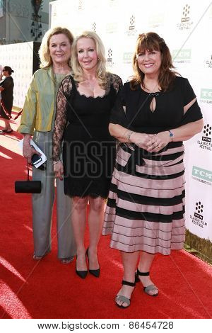 LOS ANGELES - MAR 26:  Heather Menzies-Urich, Kym Karath, Debbie Turner at the 50th Anniversary Screening Of
