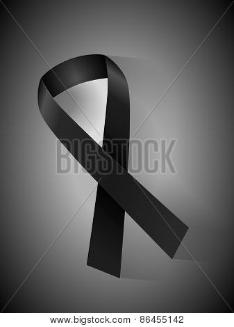 Mourning Ribbon Background