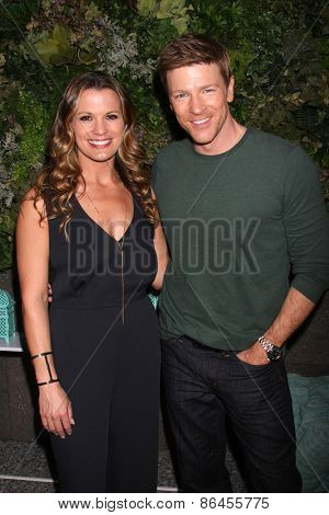 LOS ANGELES - MAR 26:  Melissa Clare Egan, Burgess Jenkins at the Young & Restless 42nd Anniversary Celebration at the CBS Television City on March 26, 2015 in Los Angeles, CA