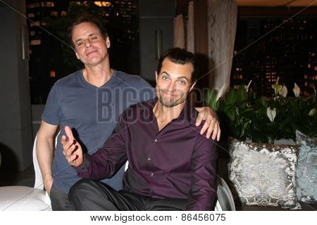 LOS ANGELES - MAR 26:  Christian LeBlanc, Scott Elrod at the Young & Restless 42nd Anniversary Celebration at the CBS Television City on March 26, 2015 in Los Angeles, CA