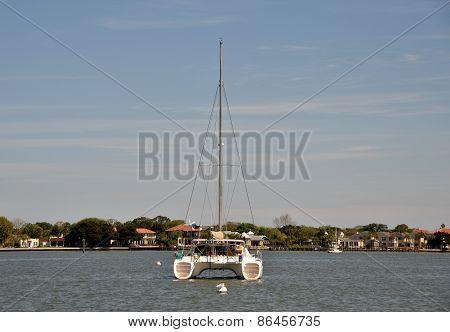 Catamaran Rear View