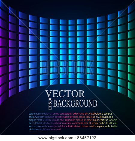 Abstract background. Perspective tiled  vector illustration