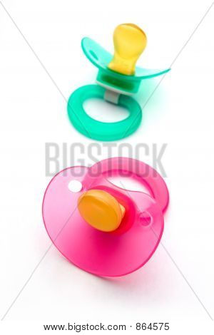 Babies dummy or pacifier.