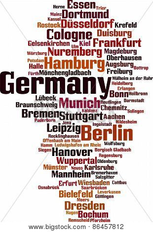 Cities In Germany Word Cloud