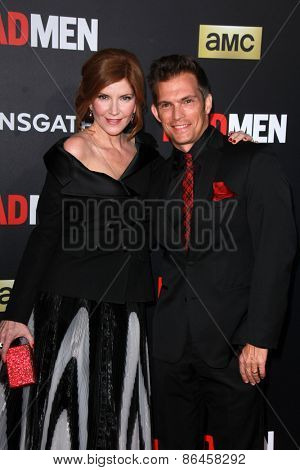 LOS ANGELES - MAR 25:  Melinda McGraw, Steve Pierson at the Mad Men Black & Red Gala at the Dorthy Chandler Pavillion on March 25, 2015 in Los Angeles, CA