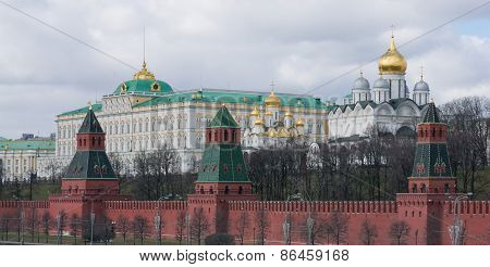 Grand Kremlin Palace And The Cathedrals Of The Kremlin