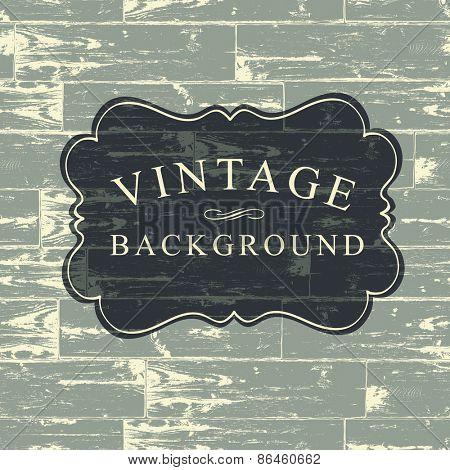Vintage Lettering on Wooden Background