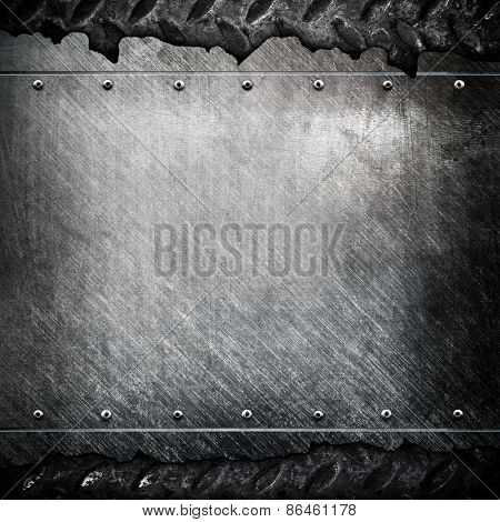 cracked metal template background