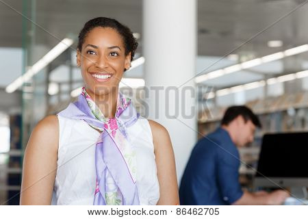 Portrait of a beautiful young businesswoman sitting at her desk