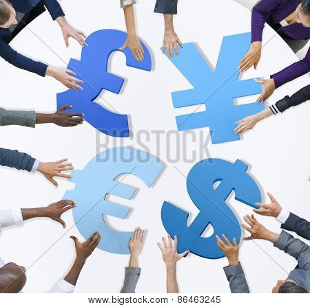 Business People Currency Concept