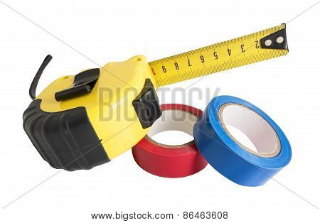 The Insulating Tape And Tape Measure