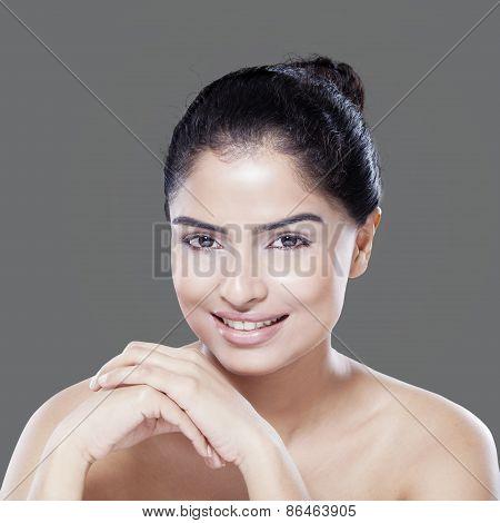 Friendly Model With Fresh Skin