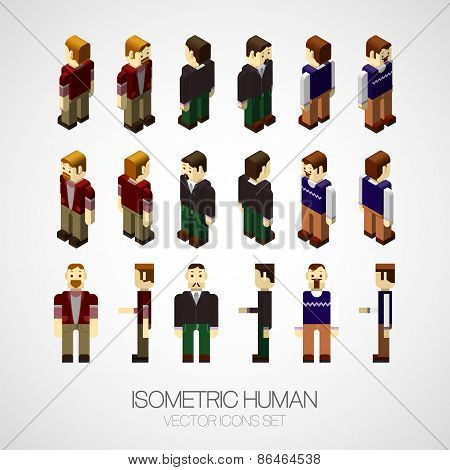 Vector isometric human set