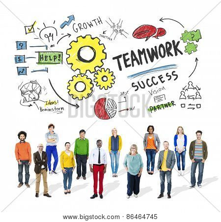 Teamwork Team Together Collaboration Diversity People Group Concept