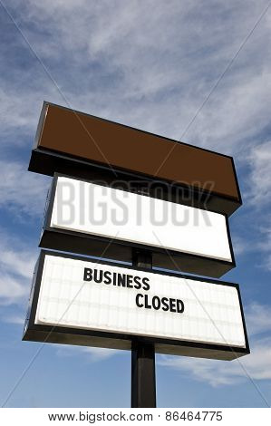 BUSINESS CLOSED Sign With Copy Space