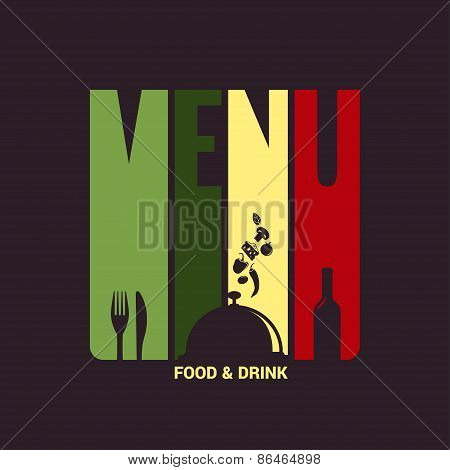 food and drink menu label design background
