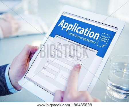 Application Human Resources Hiring Job Recruitment Employment Concept