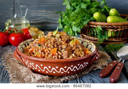 Buckwheat With Meat And Vegetables