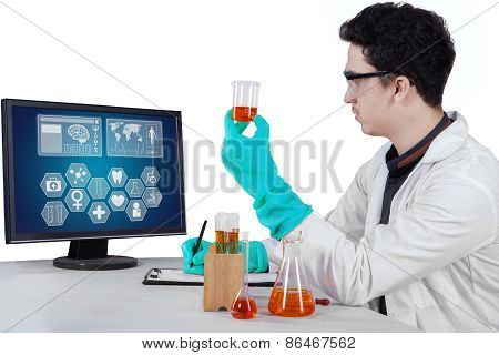 Young Researcher Doing Experiment