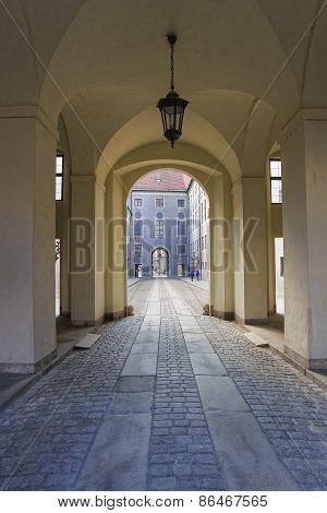 Corridor Passage With Lantern