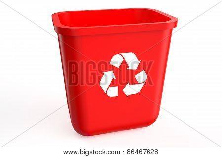 Recycling Red Container