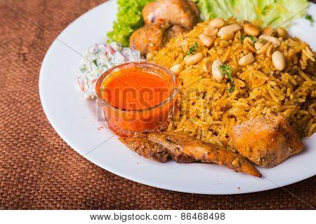 Eastern food. Arab food.