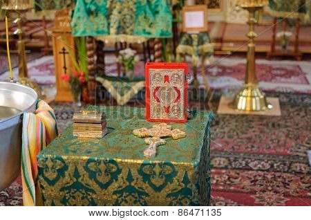 Holy Bible With Rosary Beads