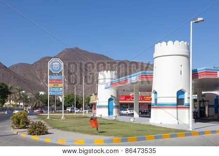 Petrol Station In Emirate Of Fujairah