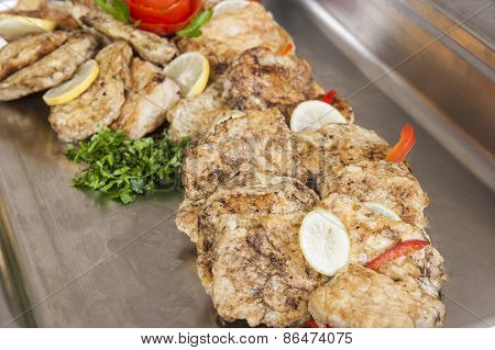 Grilled Fish With Egg Panne