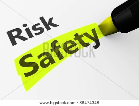 Risk Vs Safety Choice Concept