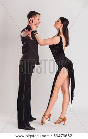 Ballroom dancers dancing
