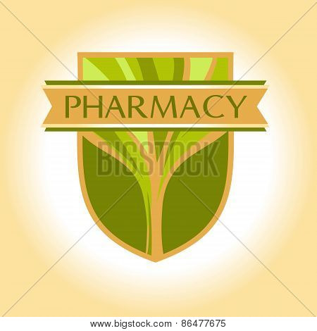 Medical pharmacy logo design template. Editable.