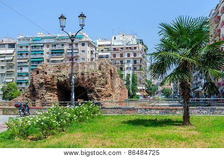 Greece, Thessaloniki, Ruins Of Palace Of Roman Emperor Galerius (iii Century)