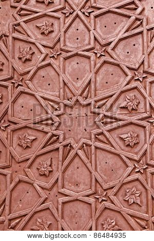 Brass Craftsmanship On A Door At The Bibi-ka-maqbara. Aurangabad, Maharashtra