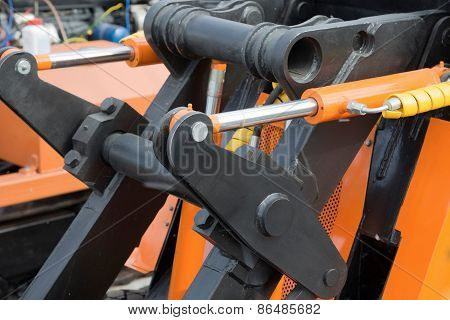 Detail Of Hydraulic Bulldozer Piston Excavator