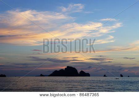 Sunset on Andaman sea,Thailand.