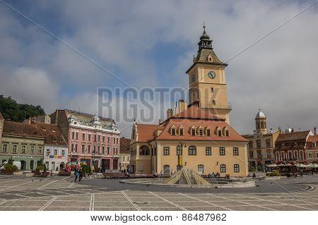 City Hall On The Piata Sfatului In Brasov