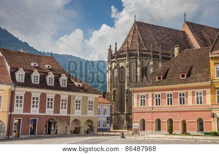 Black Church At The Central Square In Brasov