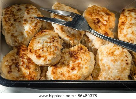 Chicken Cutlets From The Pan