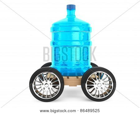 Big Bottle Of Drinking Water With Wheels