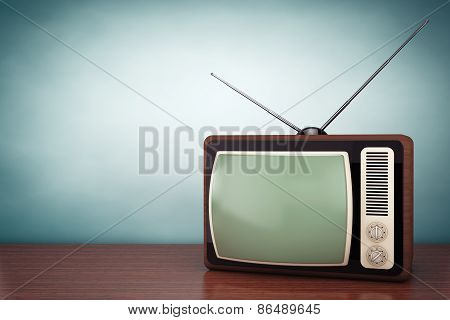 Old Style Photo. Classic Vintage Tv