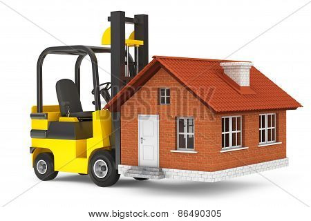 Forklift Truck Moving House