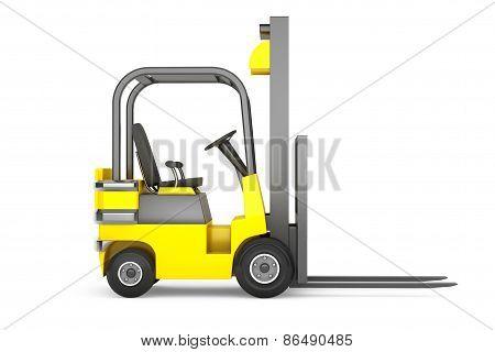 Closeup Forklift Truck