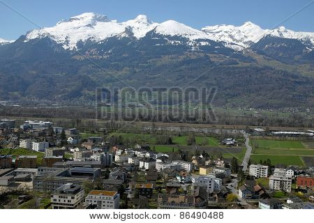 View Over Vaduz, Liechtenstein