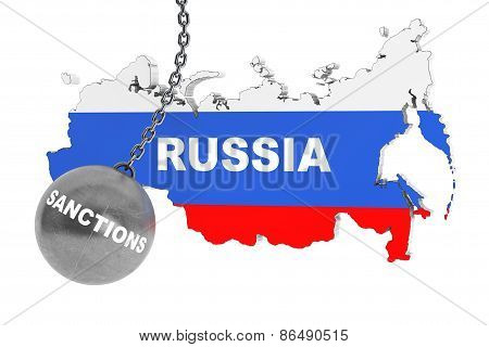 Sanctions Destroy Russia Concept
