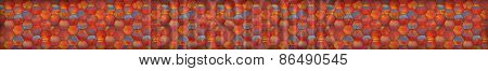 Colorful Mosaic Tiled Panoramic Background (website Head)