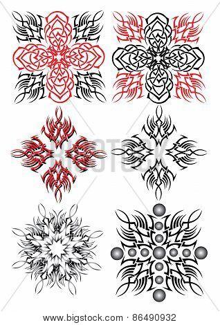 pattern tattoo snow flake