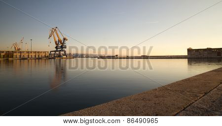 Cranes Of The Port Of Trieste